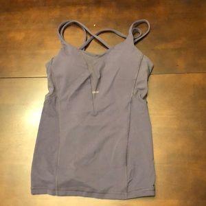 Lululemon size 6 sexy mesh bra violet tank top